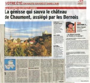 article legendes Vuache Dauphine Libere 22 juillet 2016